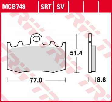 LUCAS MCB 748 SV Bremsbeläge Sinter vorn BMW  K 1200 S 2003-2008 ABS ABE K12S