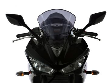 Yamaha YZF R25 YZF 300 R3 2016 MRA Verkleidungsscheibe Racingform farblos mit ABE Racing screen clear