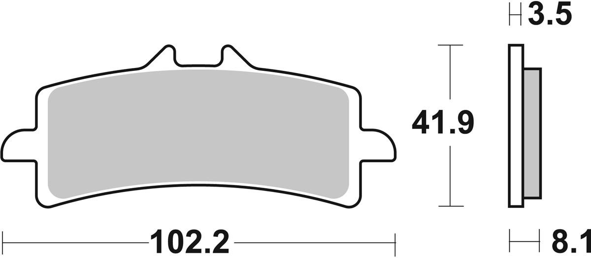 2 X SBS Bremsbeläge vorn 841DC für Kawasaki ZX10R ab Bj.2016