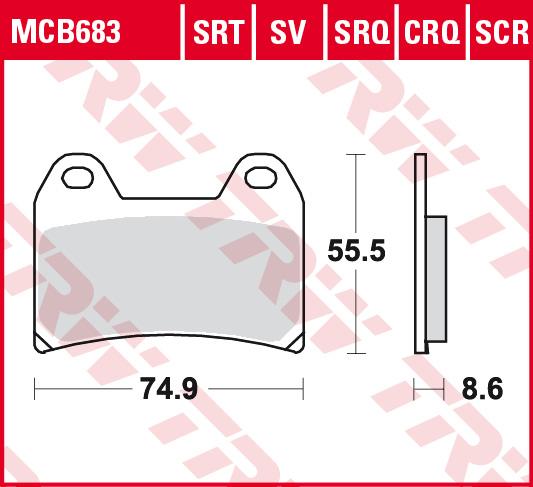 Nuda TRW Lucas Bremsbeläge MCB683 vorne Ducati Supersport 900 SS i.e