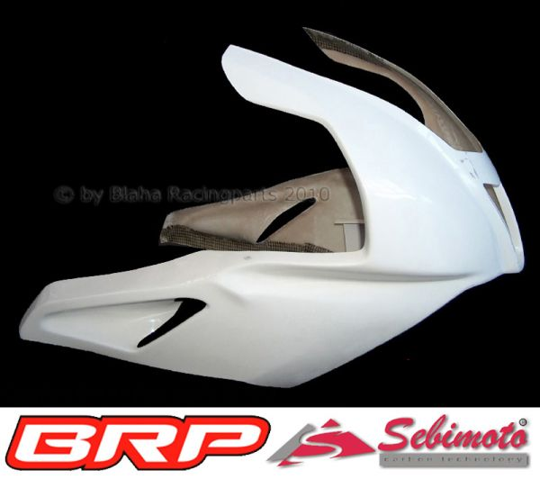 Aprilia RSV 1000 R Factory 2004 - 2008 Sebimoto Rennverkleidung 2 tlg. + Höcker  fairing 2 parts + tailsection open (for original seat)