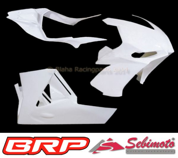 Aprilia RSV4  2009-2012 Sebimoto Rennverkleidung 2 teilig + Höcker offene Sitzfgläche für Originalsitz  Fairing 2 parts + tailsection open seatplate for original seat